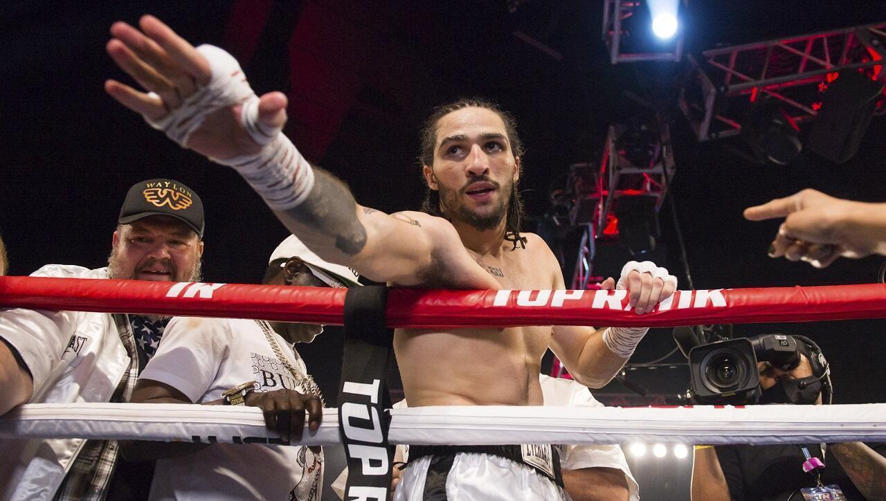 Le boxeur américain Nico Walsh Ali, petit-fils de Mohamed Ali, le 14 août 2021 à Catoosa, dans l'Oklahoma.