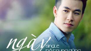 """Hồ Trung Dũng  trên ảnh bìa dĩa single """" Ngày không em"""", ca khúc do chính anh sáng tác."""