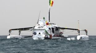 Le bateau DP World au départ de Dakar, vendredi 14 décembre.