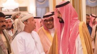 Rais wa Yemen alikuwa amepokelewa Riyadh Machi 26 na waziri wa ulinzi wa Saudi Arabia, Mohammad bin Salman.