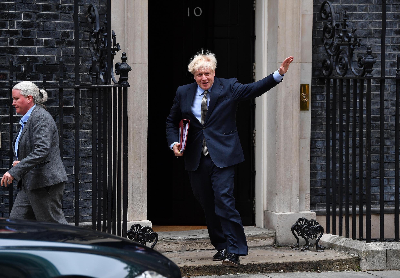 El primer ministro británico Boris Johnson en Londres el 9 de septiembre de 2020