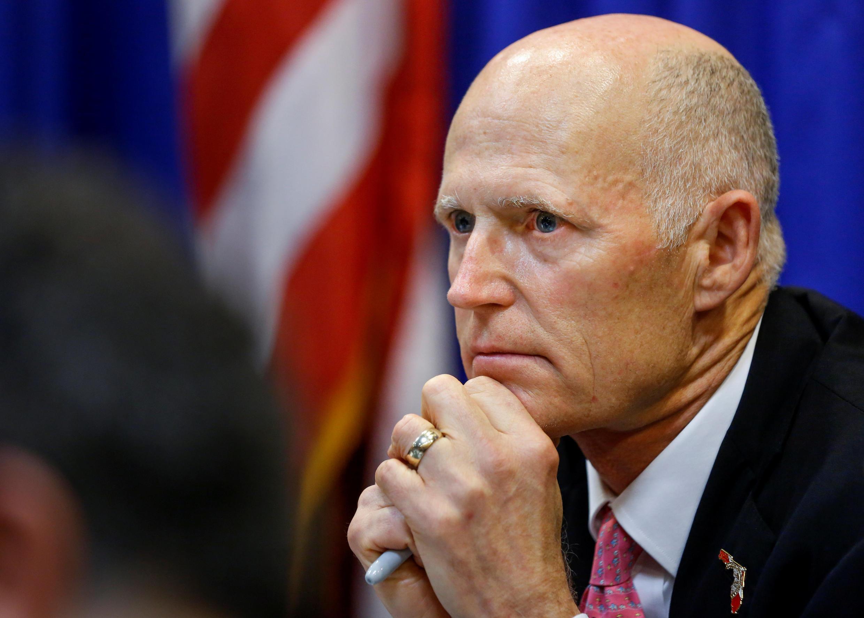 Rick Scott, thống đốc bang Florida, trong một phiên họp với lực lượng an ninh về các biện pháp phòng ngừa nạn xả súng, ngày 20/02/2018.
