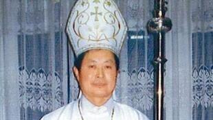 图为原地下主教靳禄岗现被中国官方任命教区主教助理