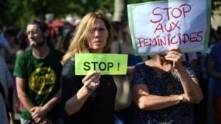 Rassemblement contre les féminicides à Paris, le 6 juillet 2019.