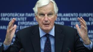 Le commissaire européen chargé des Services financiers, Michel Barnier, au Parlement européen à Strasbourg, le 12 septembre 2012.