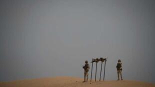 Des soldats mauritaniens du G5 Sahel dans le sud-est du pays, près de la frontière avec le Mali