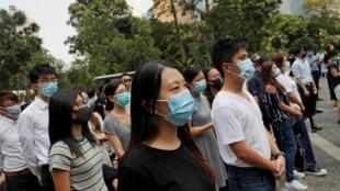 香港抗爭運動示威者 2019年10月11日