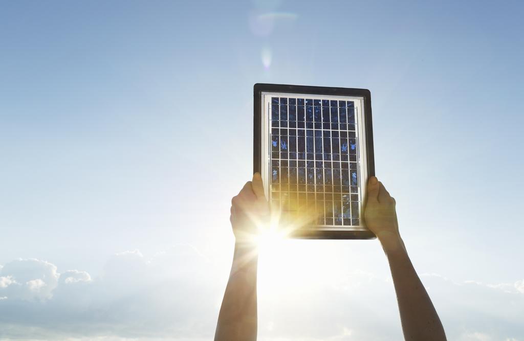 Un panneau photovoltaïque pour produire de l'énergie solaire.
