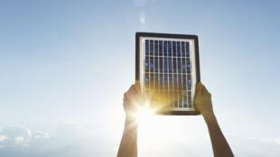 Un panneau photovoltaïque.