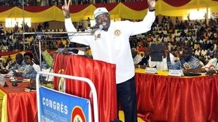 Le président du Congrès pour la démocratie et le progrès Eddie Komboïgo, inéligible candidat du parti de l'ex-président Blaise Compaoré à la prochaine présidentielle.
