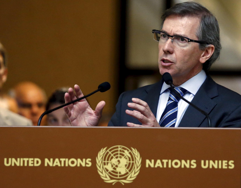 Bernardino Leon, l'ancien représentant spécial de l'ONU pour la Libye, à Genève, le 4 septembre 2015.