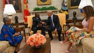 Rais wa Marekani Donald Trump na mwenzake wa Kenya Uhuru Kenyatta.