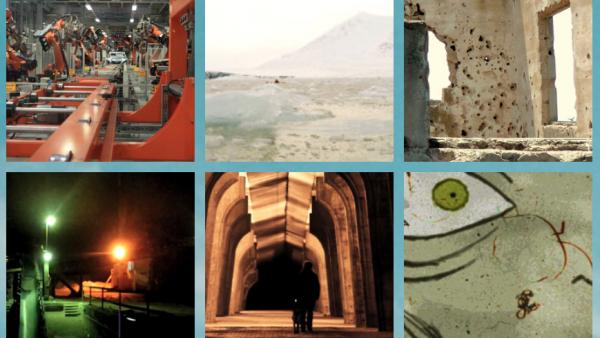 Capture d'écran des affiches de films présentés en ligne dans la catégorie Art Vidéo au Festival Gabès Cinéma Fen en Tunisie, sur la plateforme Artify.tn.