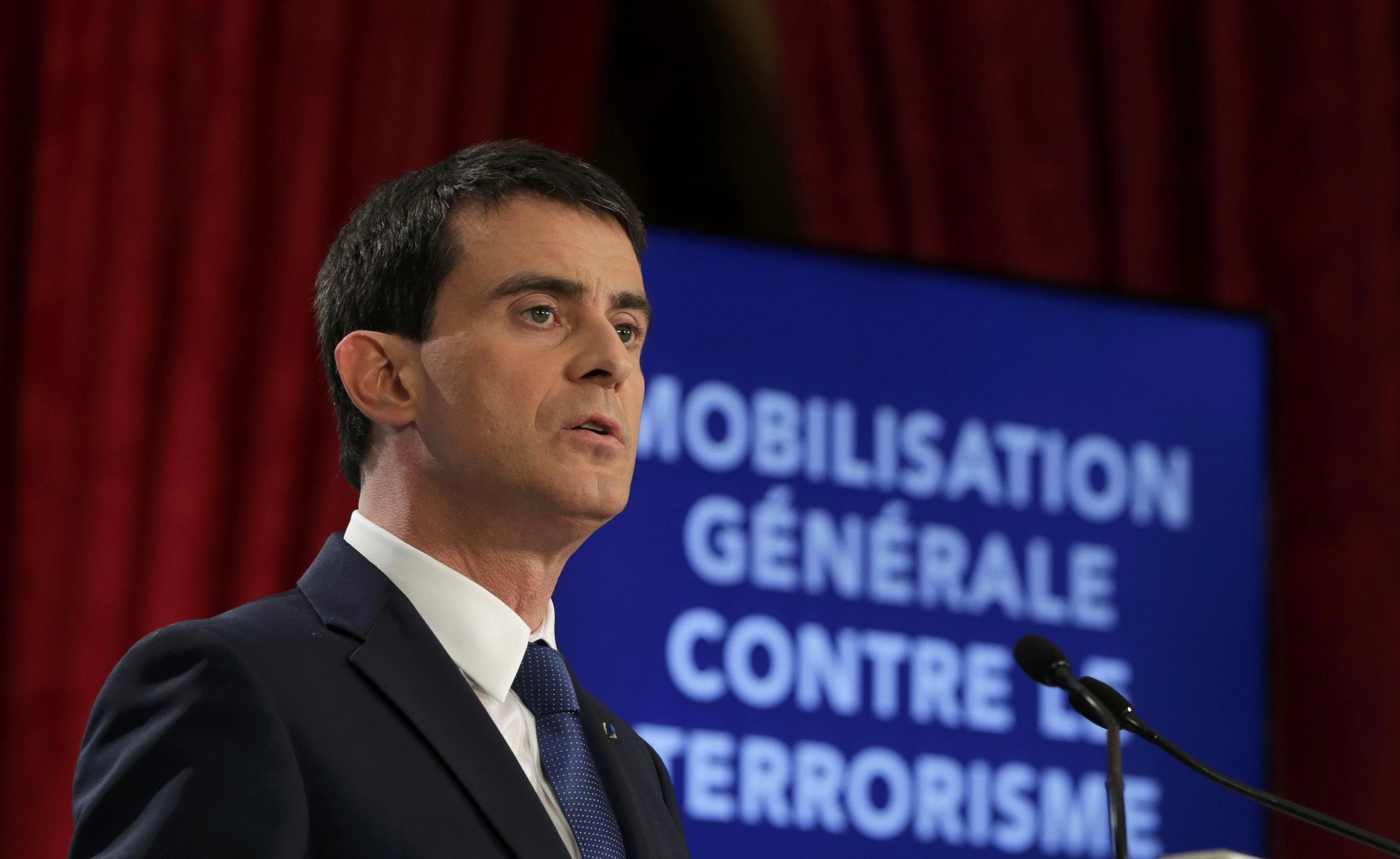 French Prime Minister Manuel Valls unveils his new security measures on Wednesday