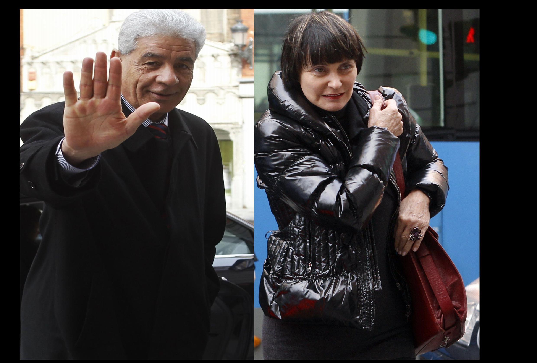 Los cancilleres de Libia, Moussa Koussa y de Suiza, Micheline Calmy-Rey se reunieron en Madrid, 18 de febrero de 2010