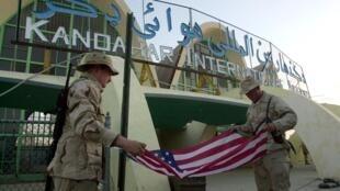 Soldats américains aéroport de Kandahar