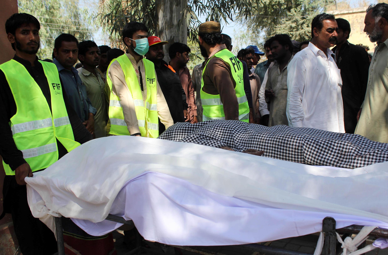 圖為巴基斯坦旁遮普一座蘇菲教派神廟遭兇殺襲擊