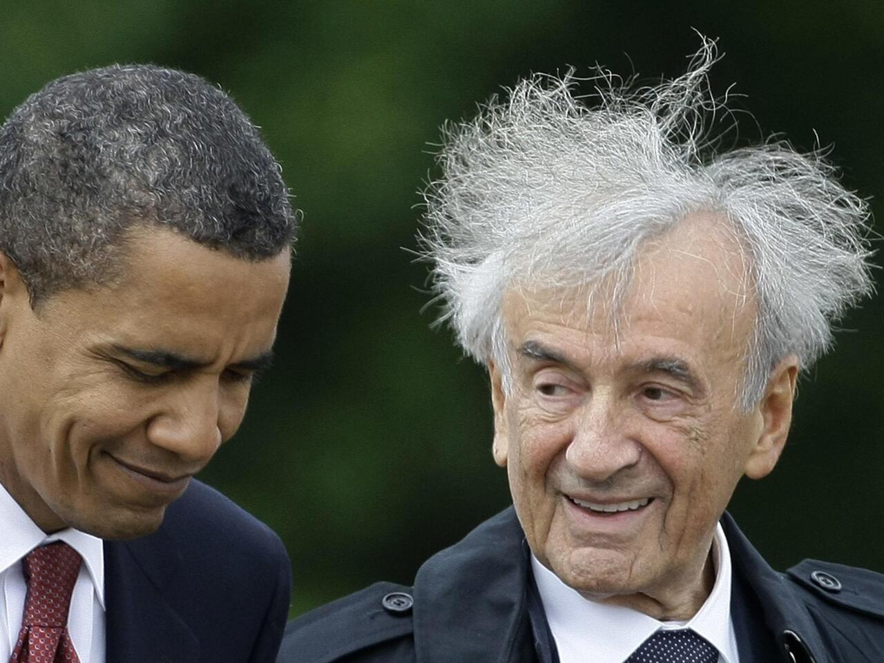 Hollande pays tribute to Nobel winning holocaust survivor Elie Wiesel