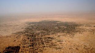 Vue aérienne de la ville de Tombouctou au Mali.