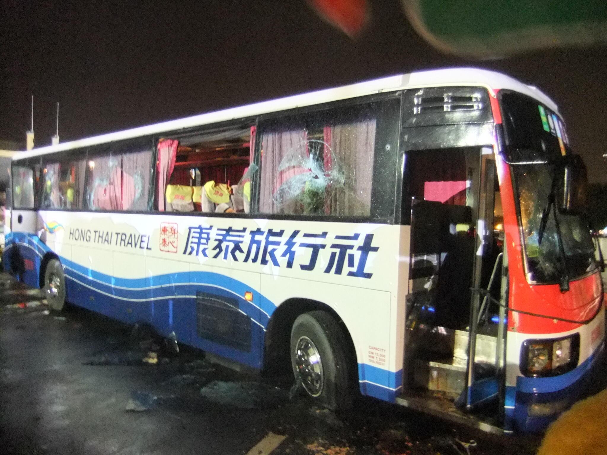 Chiếc xe bus chở du khách liên quan đến vụ con tin bị sát hại tại Manila ngày 23/08/2010.