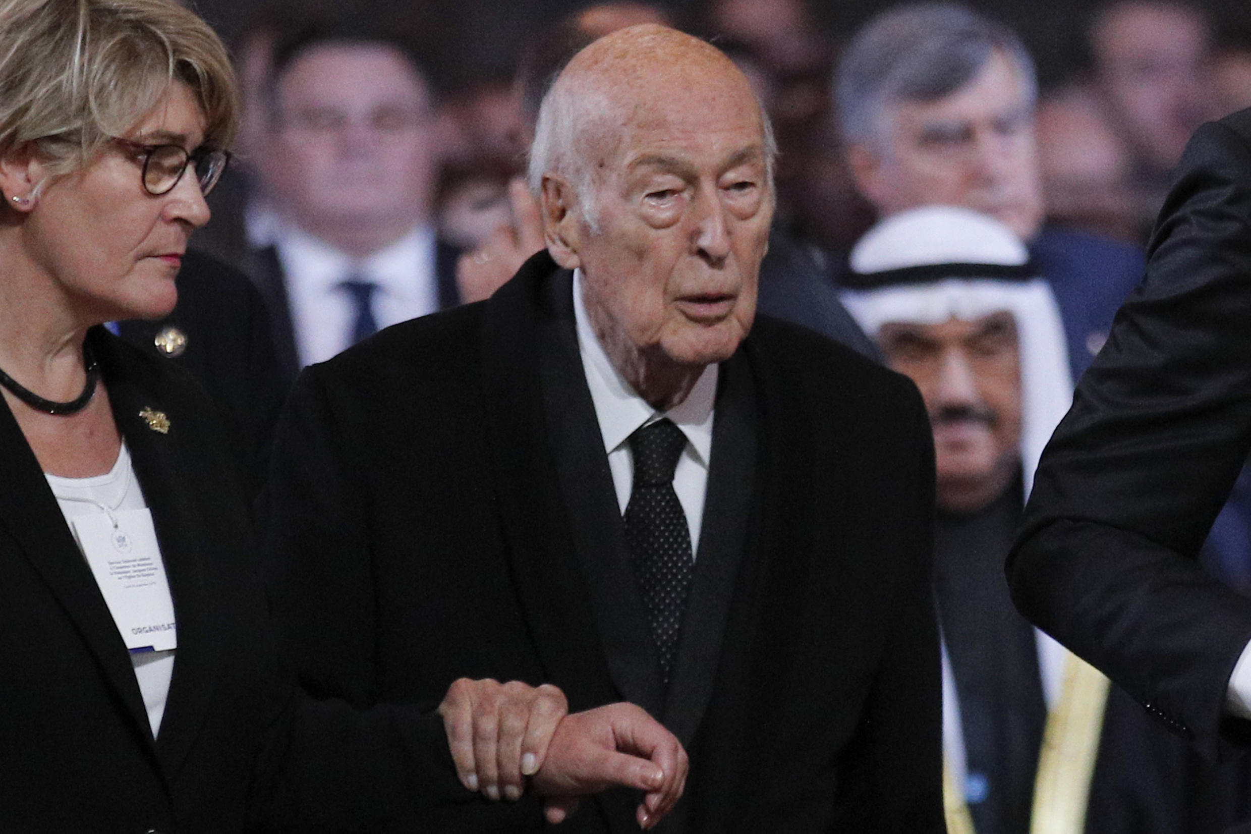 Former French president Valery Giscard d'Estaing, pictured last year, has been accused of sexual assaulting a reporter in 2018