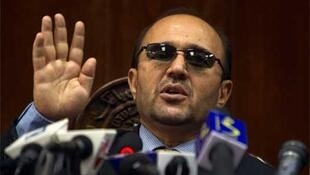 Central Bank governor Abdul Qadir Fitrat speaks during a news conference in Kabul.