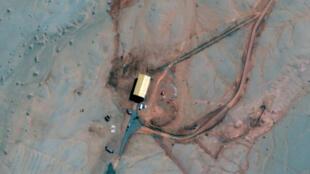 Hình ảnh vệ tinh do Maxar Technologies chụp ngày 17/04/2019 cho thấy một trong những hầm chứa tên lửa ngầm đang được xây dựng tại một khu luấn luyện về tên lửa ở miền trung bắc Trung Quốc.