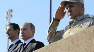 敘利亞總統阿薩德和俄羅斯總統普京資料圖片
