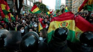 Des manifestations ont lieu mardi 22 octobre dans la journée à La Paz suite aux soupçons de fraude électorale pour les élections générales.