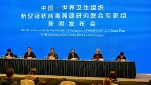Conférence des experts de l'OMS en visite à Wuhan en Chine, le 9 février 2021.