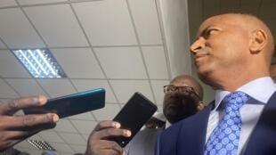 Moïse Katumbi à la sortie de son entrevue avec Félix Tshisekedi, le 7 novembre 2020.