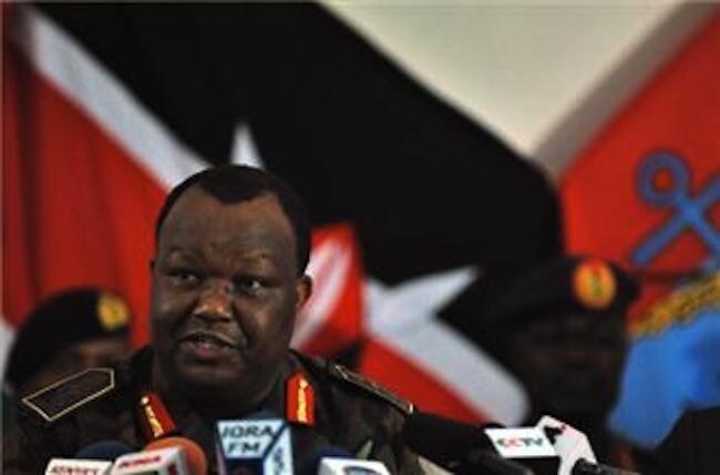 Mkuu wa majeshi ya Kenya Jenerali Julius Karangi