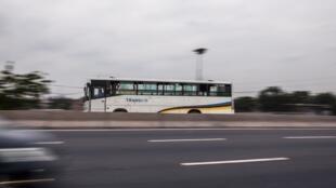Un bus public Transco à Kinshasa.