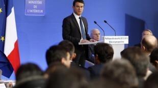 O Ministro do Interior Manuel Valls
