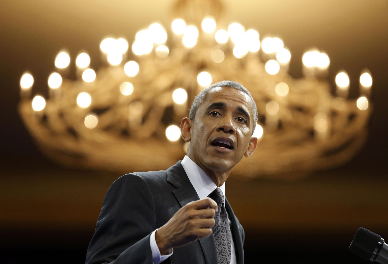 Barack Obama, durant son discours aux 500 jeunes entrepreneurs africains.