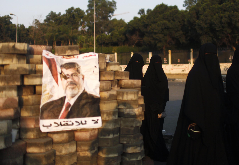 L'entrée d'un sit-in des partisans de Mohamed Morsi, le 3 août 2013.