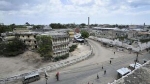 Vue aérienne de la capitale de la Somalie, Mogadiscio.