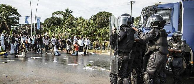 Contestação dos resultados eleitorais, em Libreville, no Gabão