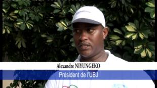 Le président de l'Union burundaise des journalistes (UBJ), Alexandre Niyungeko (Captured 'écran).