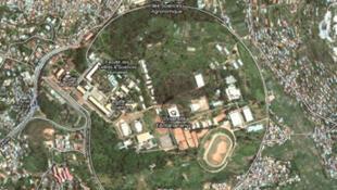 Vue aérienne de l'université d'Antananarivo.