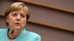 Lors de son discours au Parlement européen le 8 juillet, Angela Merkel n'a eu que des mots très vagues sur Hong Kong.