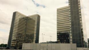 La BNF, site François-Mitterrand, à Paris dans le XIIIe arrondissement.
