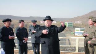 Kim Jong-un, número uno de Corea del Norte en una imagen publicada ayer por el regimen de Pyongyang.