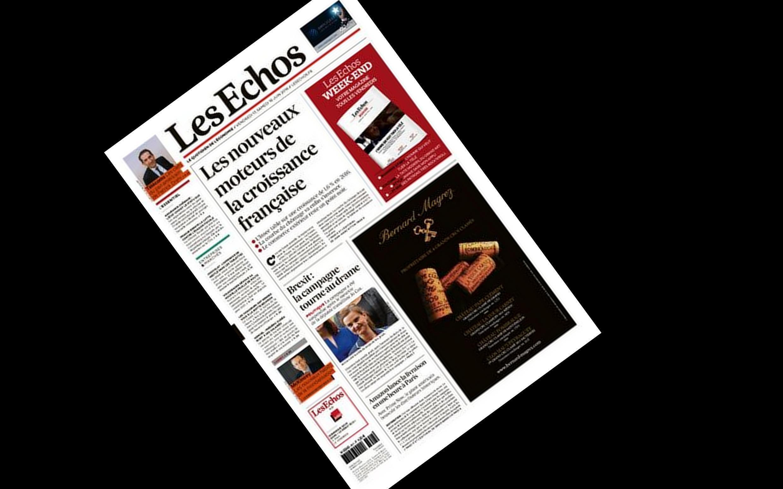 Capa do jornal francês Les Echos desta sexta-feira, 17 de junho de 2016