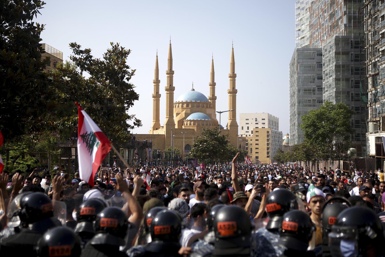 Manifestações contra crise económica no Líbano