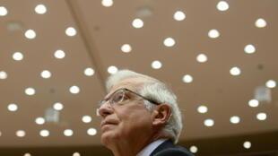 Josep Borrell au Parlement européen à Bruxelles, en Belgique le 28 avril 2021.