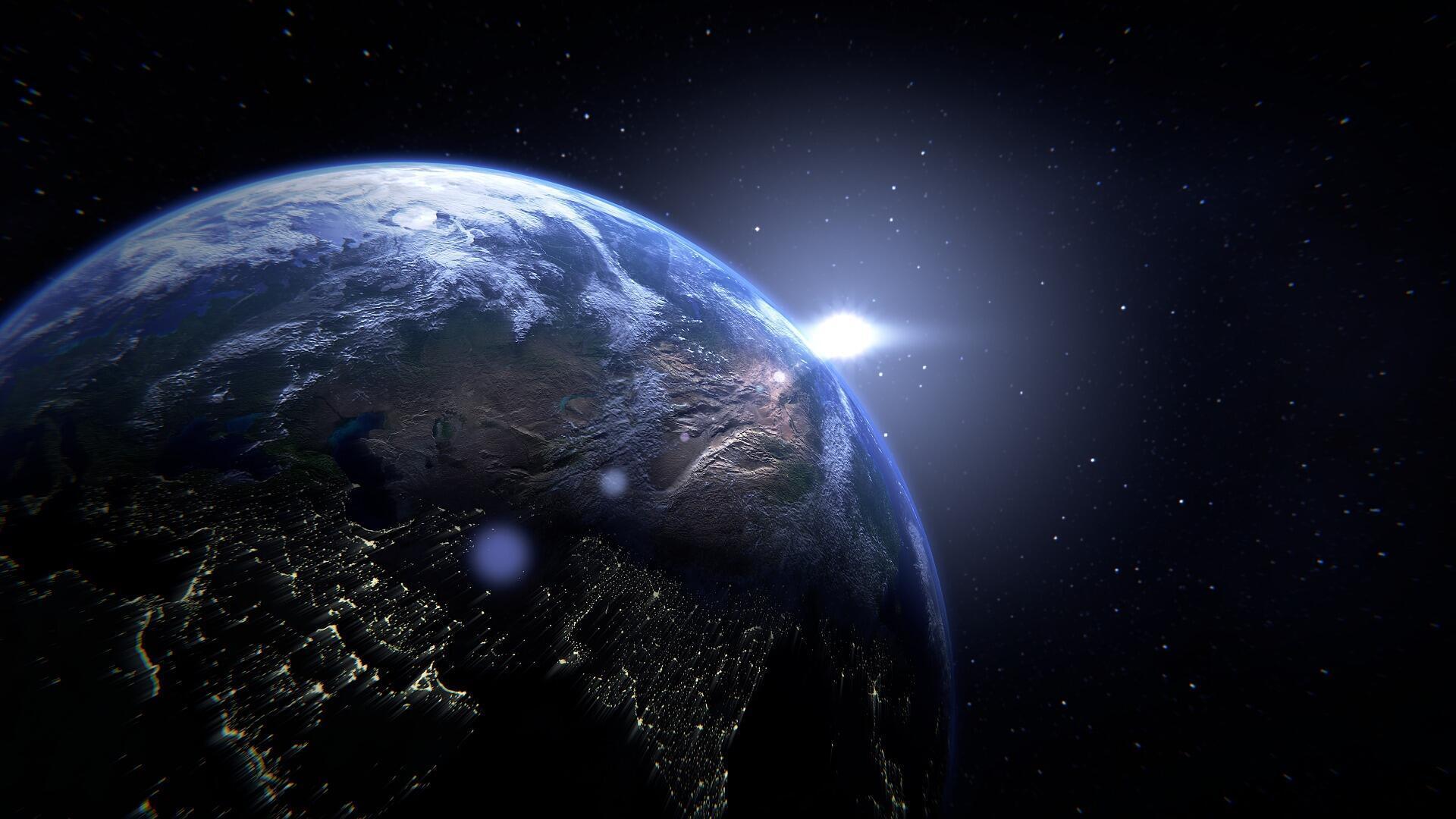 Vue satellite de la Terre (image d'illustration).