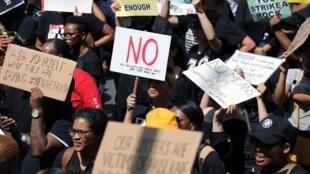 Une manifestation contre les violences faites aux femmes à Pretoria, en Afrique du Sud, le 13 septembre 2019.