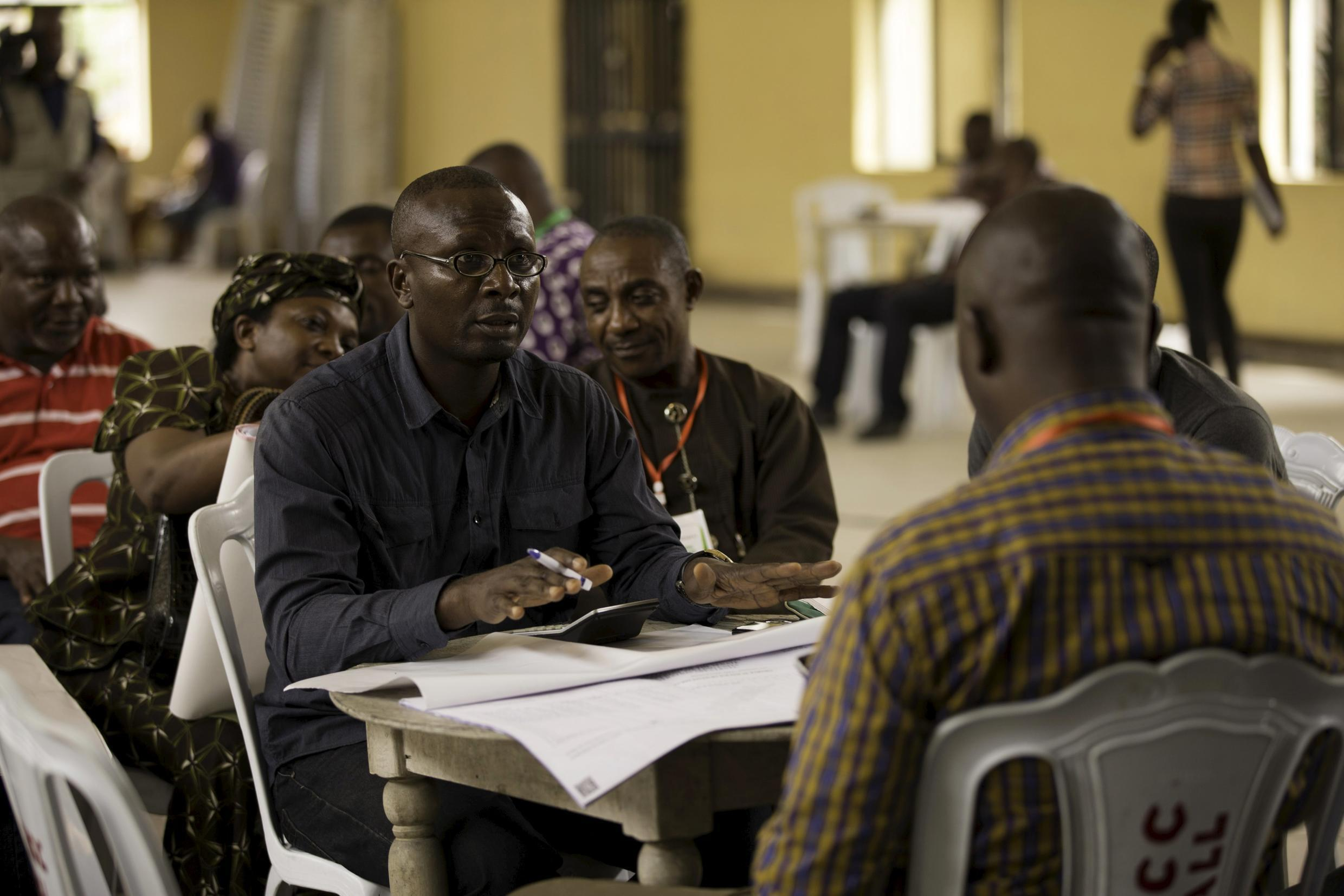 Vote-counting in Port Harcourt in Rivers State