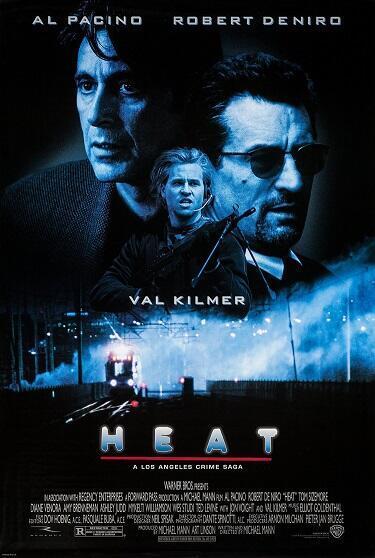 Detalle del afiche de la película 'Heat', fuente de inspiración para Redoine Faïd.